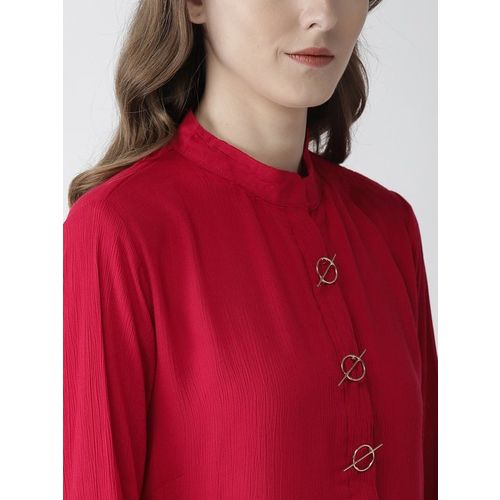 PlusS Red Lace Top