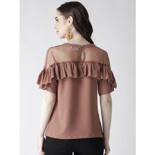 PlusS Brown Regular Fit Top