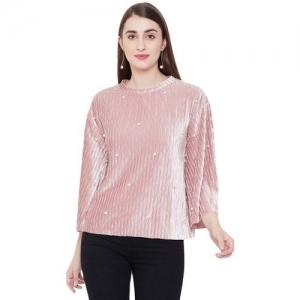 MADAME Blush Pink Embellished Top