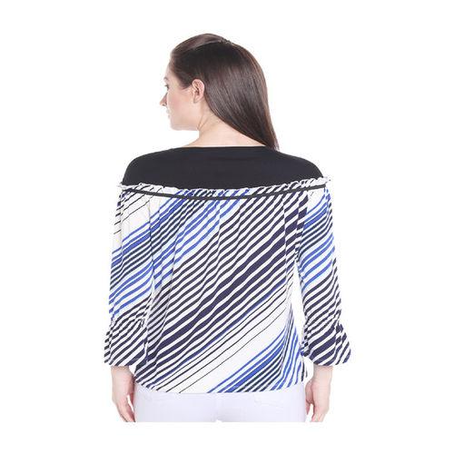 109 F White Striped Top