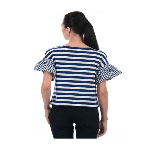 Pepe Jeans Blue Striped Top