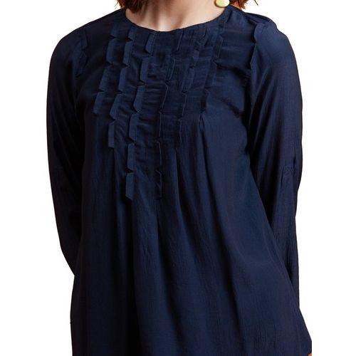 Label Ritu Kumar Navy Full Sleeves Top