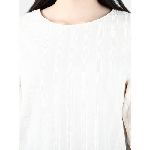 Cover Story White Striped Top