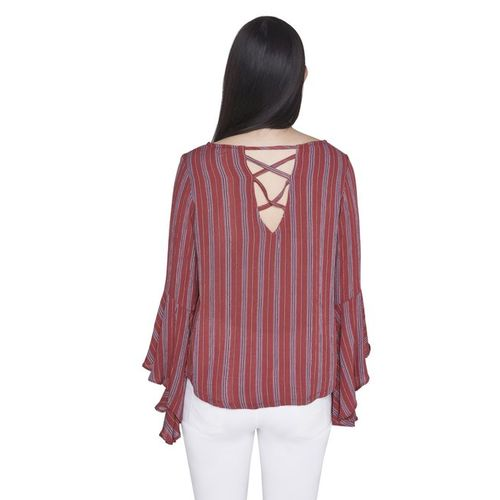 AND Rust Striped Top