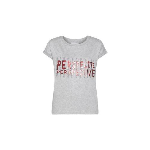 Studiofit by Westside Grey Melange Printed Power T-Shirt