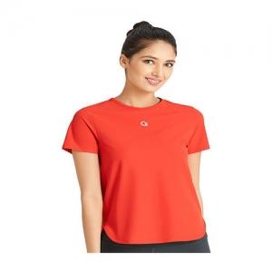 Amante Red Round Neck T-Shirt