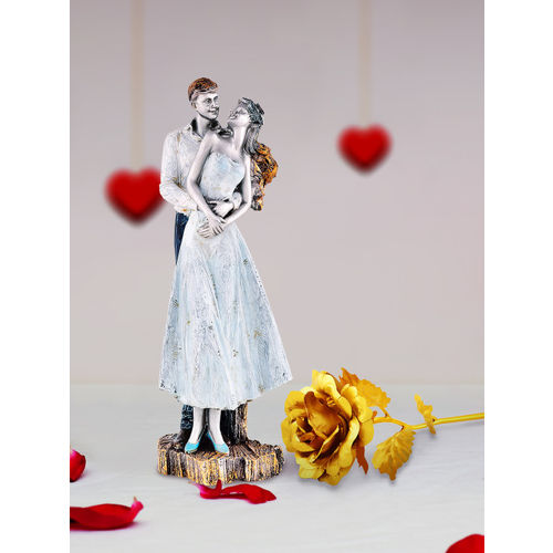 Archies Multicoloured Combo of Love Figurine & Rose