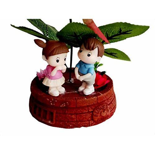 MM Cute Valentine Romantic Warm Night Valentine Love Couple Statue Showpiece for Boy Friend/Girl Friend-Valentine's Day Gift