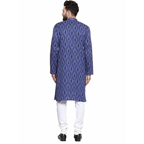Jompers Men's Cotton Print Kurta and Pyjama