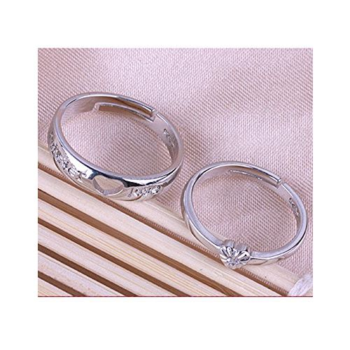 Karatcart Valentine's Day Gift of Couple Ring with Gift Box for Boyfriend/Girlfriend/Gift