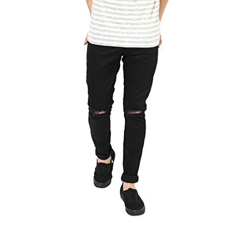 EditLook Knee Cut/Slit Cut Relaxed fit Round Pocket Distressed Damaged Jeans