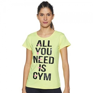 Ajile By Pantaloons Green Polyester Women's Flared Regular Fit T-Shirt