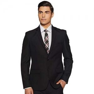Park Avenue Black Wool Notch Lapel Slim fit Business Casual Blazer