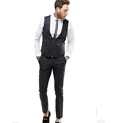 BELARIO Black Machoman's Slim Fit Festive Wear Formal  Waistcoat