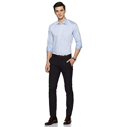 Van Heusen Sky Blue Cotton Plain Formal Shirt