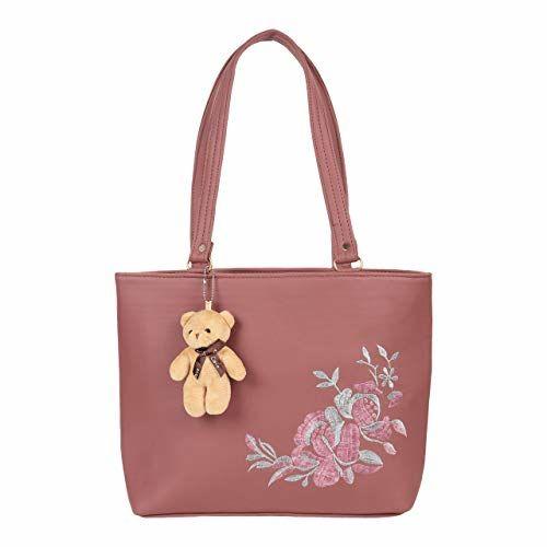 Da Eslingas Women Shoulder Embroidered Teddy Keychain Trending Stylish Bag Handbag College Office Wedding Party Girls bag