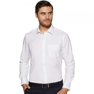 Peter England White Polyester Regular Fit Formal Shirt