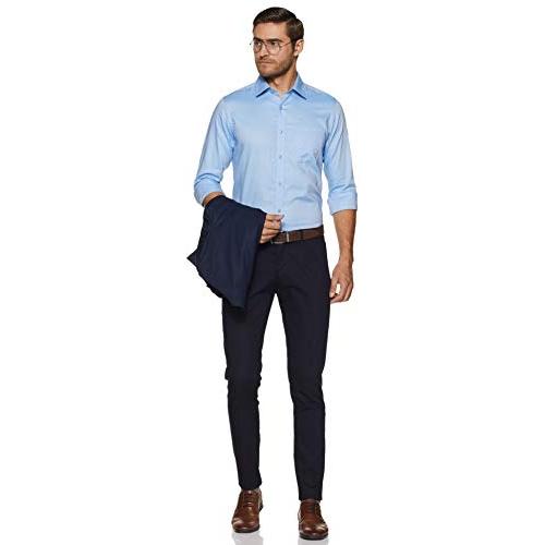 Raymond  Sky Blue Cotton Regular Fit Formal Shirt
