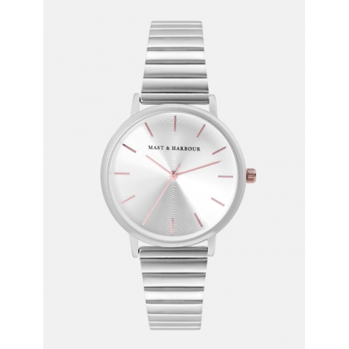 Mast & Harbour Silver-Toned Analogue Watch MFB-PN-PF-DK2555