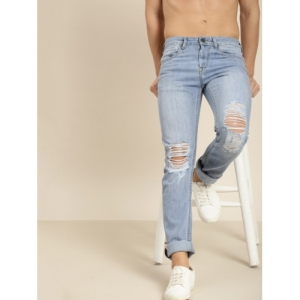 Moda Rapido Men Blue Slim Fit Mid-Rise Mildly Distressed Jeans