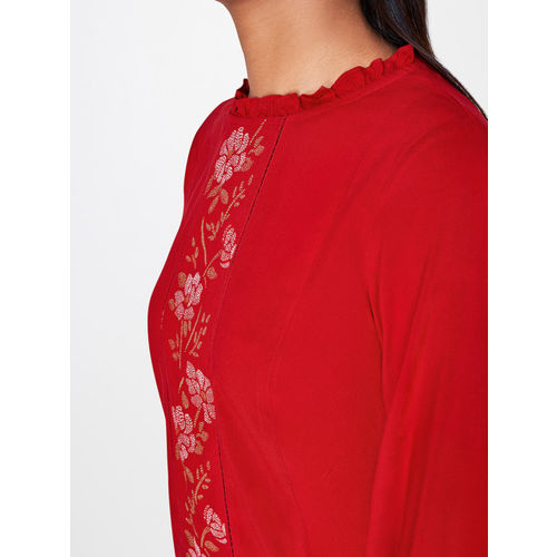 AND Women Red Printed Top