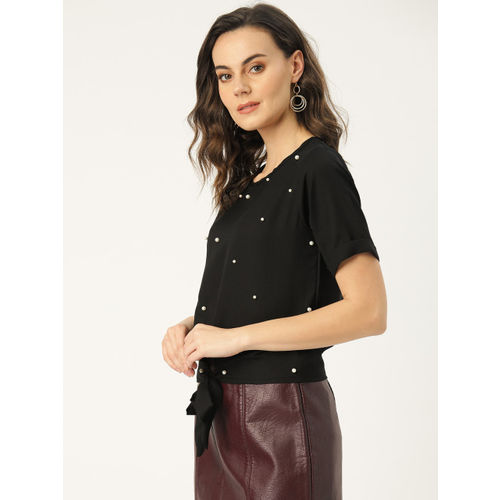 Chinyere Women Black Embellished Top