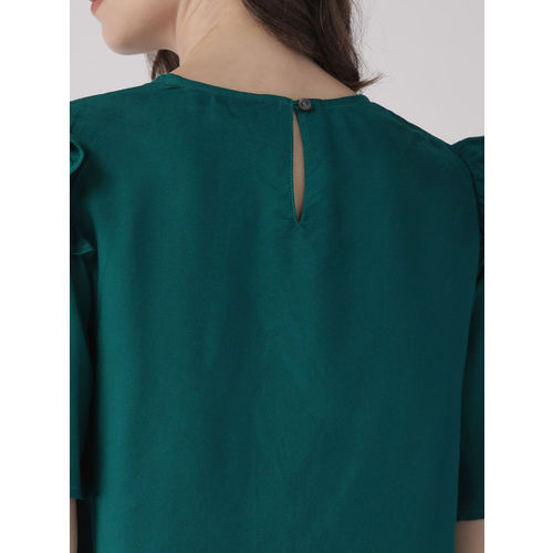 SCOUP Women Green Embroidered Top