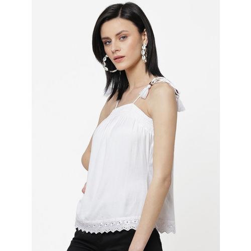 DODO & MOA Women White Solid Top