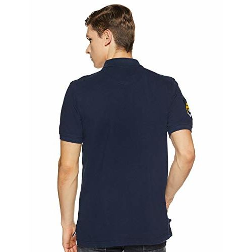 Amazon Brand - House & Shields Men's Solid Regular fit Polo
