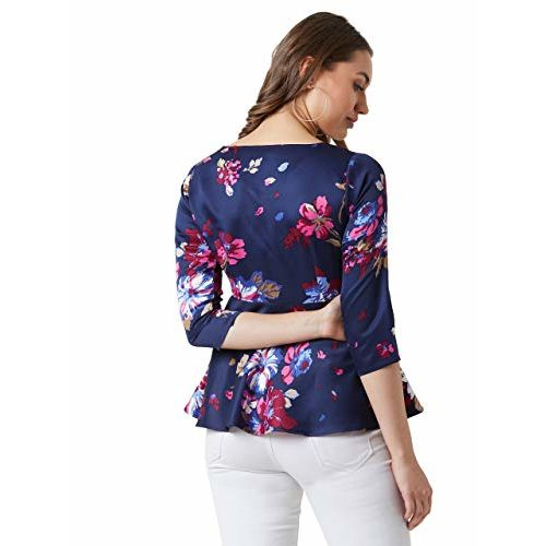 Miss Chase Women's Multicoloured Floral Peplum Top