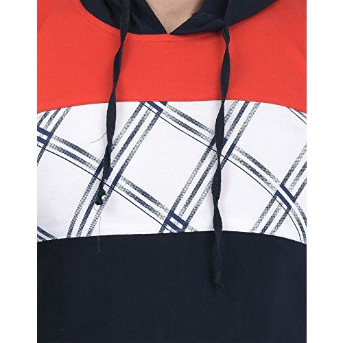 SHAUN Men's Cotton Full Sleeve Hooded T-Shirt