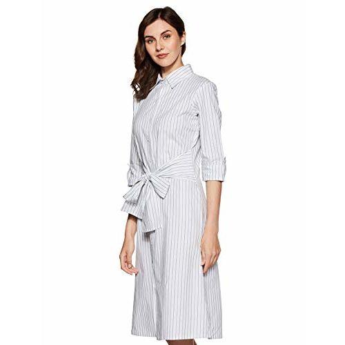 Miss Chase Women's Shirt Midi Dress