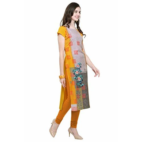 PURVAJA Multicolour Crepe Short Sleeve Straight Kurta