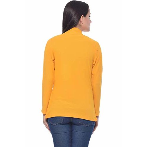 Frenchtrendz Womens's Viscose Crepe Shrug(Mustard, XS-4XL)