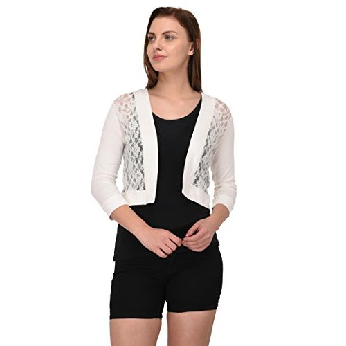 Espresso Women's 3/4 Th Sleeve Lace Shrug Cardigan
