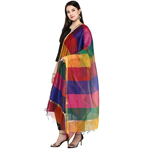 Dupatta Bazaar Multi coloure Silk Dupatta