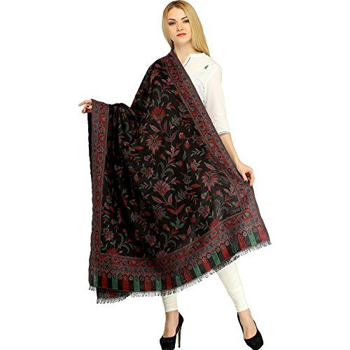 Exotic India Women's Wool Shawl