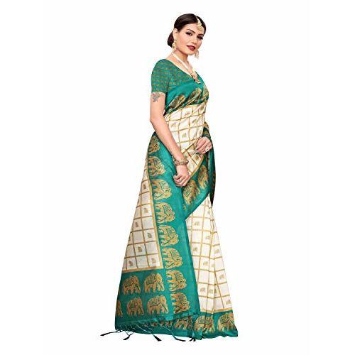 Pisara Mysore Silk Printed Saree, Orange & Off White Sari