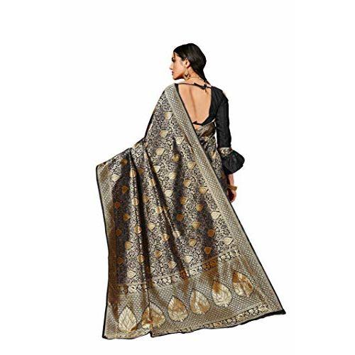 Pehnavaa Women Banarasi art silk Blue saree