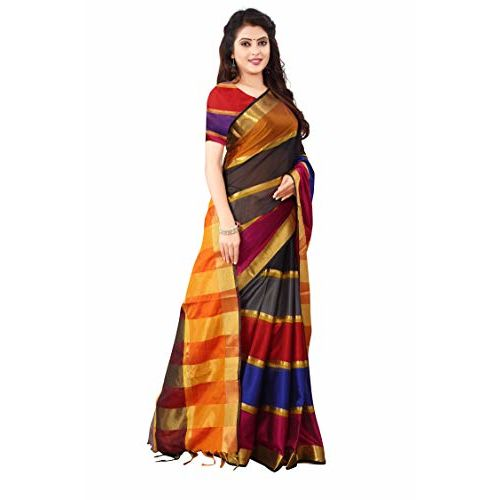 Om Sai Latest Creation Women's Soft Cotton -Silk Saree With Blouse Piece Material