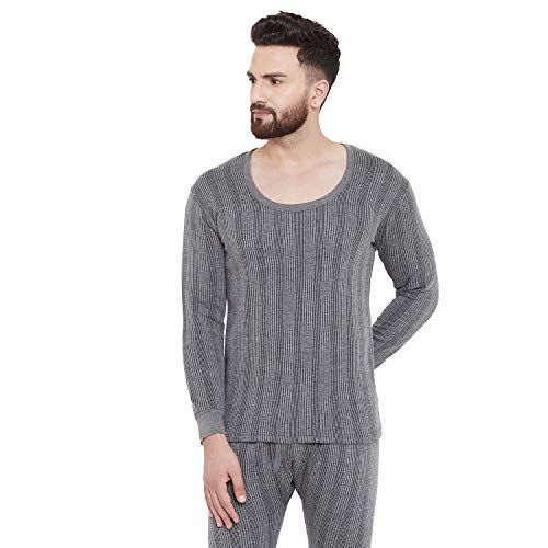 ZIMFIT Men's Cotton Blended Winter wear Round Neck Full Sleeves Thermal Warmer Set
