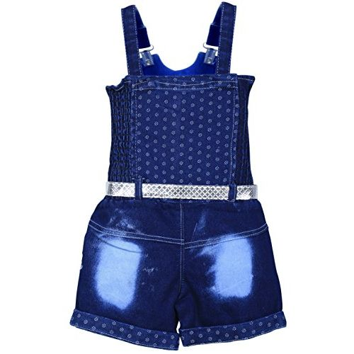 MPC Cute Fashion Blue Jeans Regular Fit Dungaree For Girls