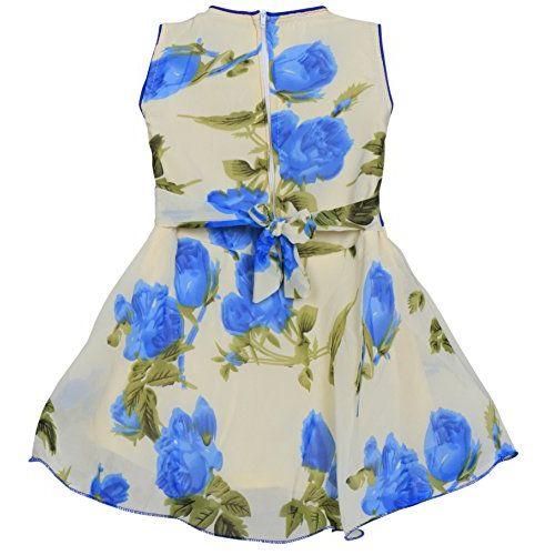 MPC Cute Fashion Baby Girl's Sifon Print Frock Dress for