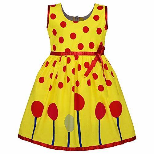 Wish Karo Baby Girls Cotton Frock Birthday Dress for Girls - (fr125nb)