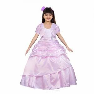 Saba Garments Baby Girl's Baglory Satin Princess Look Birthday A-Line Ball Gown Dresses Kids Girls Cinderella Gown Dress