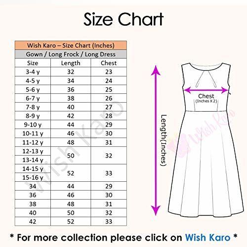 Wish Karo Girl's Net Partywear Long Frock Dress