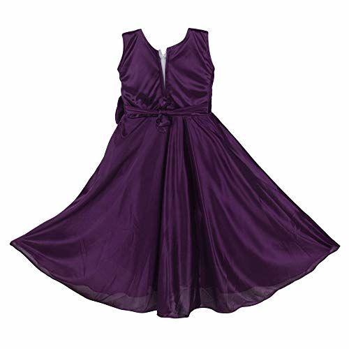 Princeandprincess Girl's Ethinic Dress Satin Lycra Frock