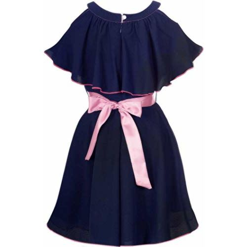 Fashion Dream Baby Girls Rose Flower Midi/Knee Length Cotton Casual Dresses