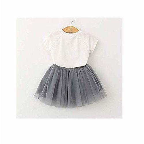 Googo Gaaga Girls Beautiful White Top with Skirt for Girls
