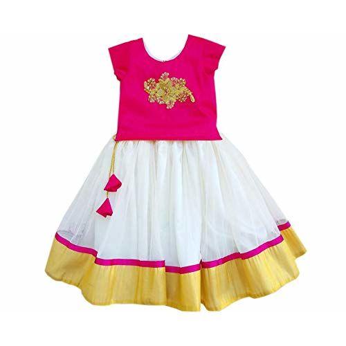Stanwells kids Baby Girl Nylon & Net Silk Designer Lehenga